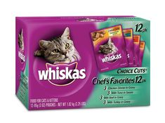 Whiskas Choice Cuts Chef's Favorites Variety Pack Food for Cats, 3-Ounce Pouches (Pack of 48) >>> You can find out more details at the link of the image.