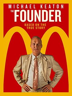 Founder, The [Blu-ray+DVD+Digital HD]: The true story of how Ray Kroc (Michael Keaton), a struggling salesman from Illinois, met Mac and Dick McDonald, and worked to create a billion-dollar burger empire. Michael Keaton, The Founder Movie, Movies To Watch, Good Movies, Awesome Movies, John Lee Hancock, Ray Kroc, Instant Video, The Greatest Showman