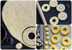 Bocados Caseros: RECETA AUTÉNTICA DE DONUTS CASEROS (Exactos al original) Pan Dulce, Churros, Empanadas, Good Food, Chips, Sweets, Cookies, Chocolate, Cake