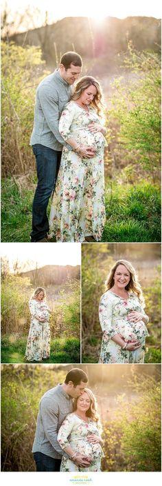 Dayton Ohio maternity photographer | Amanda Noel Photography | Spring sunset maternity session