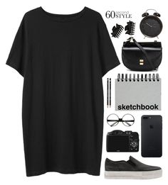 """""""Sketchbook."""" by sabreerae ❤ liked on Polyvore featuring Organic by John Patrick, CO, Chloé, Ash, ZeroUV, Paperchase, Dorothy Perkins, tshirtdresses and 60secondstyle"""
