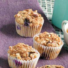 Banana Berry Muffins, made with bran or raisin bran cereal.  Love these, recipe is very adaptable