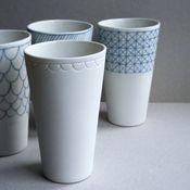 Beautiful dishes - handmade!  Image of verre - glass [ug]