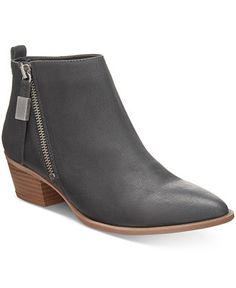 95a199b0241 Circus by Sam Edelman Heidi Zipper Block-Heel Booties - Boots - Shoes -  Macy s