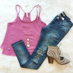 Flirty in pink  Spend your Saturday shopping with us to get this adorable look!