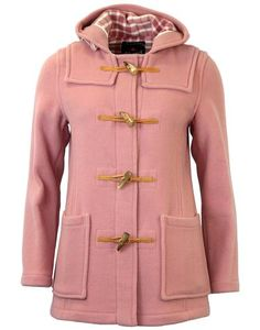 GLOVERALL 432FC Retro 60s Short Slim Fit Duffle Coat Pastel Pink