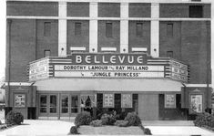 Bellevue Theatre Richmond, Va - 4026 MacArthur Ave., opened September 1937 and closed in 1963. Warren Beatty and Shirley MacLaine lived in Ginter Park, when they were children and attended the Bellevue Theater during the 1940s. The Carter Sisters, June, Hellen and Anita also attended the Bellevue Theatre during the late 1940s. The Bellevue is now used by the Shriners organization for meetings and dinners and is known as the Samis Grotto Temple.