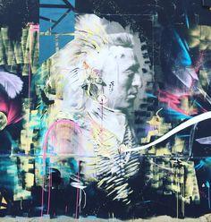 Indian Spirit Voodoo by @joachimromain #joachimromain #streetart #graffiti #graff #spray #bombing #wall #instagraff #urbanart #graffitiwall #urbanwalls #graffart Quai de Loire #paris