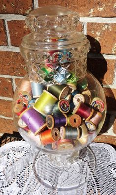 Ten Wood Thread Spools One very large two large by Castellocasa, $11.00