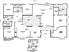 floor plan ph40764b pinehurst triplewides homes by cavco west cavco