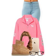 A fashion look from December 2014 featuring Victoria's Secret PINK sweatshirts and UGG Australia boots. Browse and shop related looks.