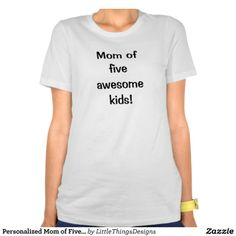 Great gift for Mother's Day!  Personalize with the number of children, and then put their names on back!
