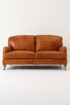 Leather Winifred Settee - Anthropologie.com