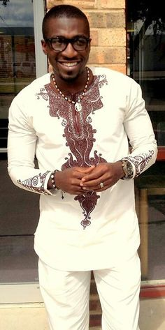 African men invented swag. I love the muscle definition and this outfit!