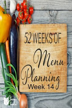 Need some menu planning inspiration? Check out this weeks menu! Tuesday's recipe sounds great!