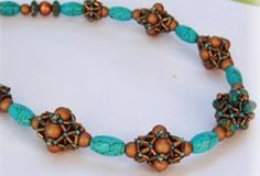 bronze and turquoise