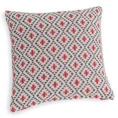 Housse de coussin en coton à motifs rouge 40 x 40 cm JEMA