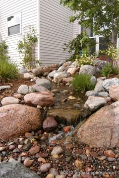 Get inspiration for backyard ponds! View pond pictures, pond images and photos of Aquascape backyard ponds and water gardens. Learn about ponds! Backyard Water Feature, Ponds Backyard, Backyard Waterfalls, Backyard Ideas, Garden Ponds, Koi Ponds, Pond Landscaping, Landscaping With Rocks, Waterfall Landscaping