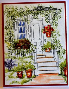 Back  Porch RETIRED Sells for 16.99. EX LG Sold separately are the other items used in the examples. Made by Art Impressions Rubber stamps. You can purchase all items in my ebay store: Pat's Rubber Stamps & Scrapbooks, Click on the picture & see the listing , or call me 423-357-4334 with order, We take PayPal. You get FREE SHIPPING ON PHONE ORDERS of $30.00 or more. If it says sold I have more. Use my search engine to find the items you are interested in