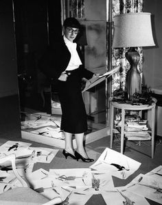 Edith Head - The bangs left much to be desired, but she knew how to pose for a camera!