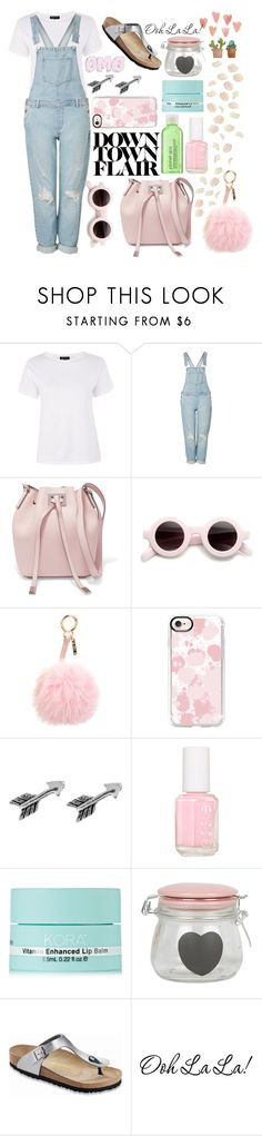 """Down town flair"" by lgbarrier ❤ liked on Polyvore featuring Topshop, Michael Kors, Fendi, Casetify, Essie, KORA Organics by Miranda Kerr and Birkenstock"