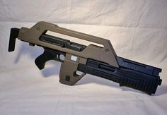 space marine rifle | Life Size ALIENS Colonial Space Marines Pulse Rifle Prop Replica Kit