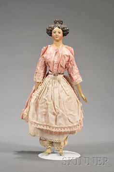 Papier-mache Shoulder Head Lady Doll | Sale Number 2460, Lot Number 313 | Skinner Auctioneers