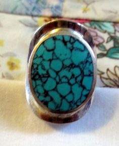 RING  Vintage   TURQUOISE  925  Sterling Silver   by MOONCHILD111, $39.95 https://www.etsy.com/shop/MOONCHILD111