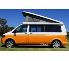 Orange Two Tone VW Eurovan Transporter Pop Top