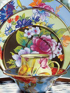 Mackenzie-Childs  see details here:Flower Market Breakfast Bowl