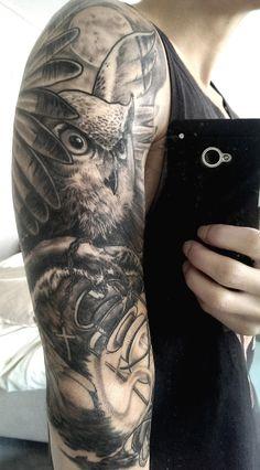 Owl with lantern