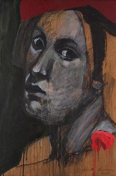 Kuutti Lavonen: Maalarin sydän, maalarin hattu, 2004, tempera okumévanerille. (KUVA: JUSSI PAKKALA) Caravaggio, Rembrandt, Art Museum, Buddha, Tempera, Fine Art, Hats, Finland, Painting