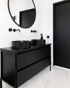 White Bathroom Ideas - Prior to you start decorating an all-white bathroom, there are a couple of things you require to understand. A professional shares her vital white bathroom . All White Bathroom, Modern Bathroom, Small Bathroom, Bathroom Ideas, Black Bathrooms, Shower Ideas, Black Bathroom Furniture, Serene Bathroom, Black Bathroom Decor