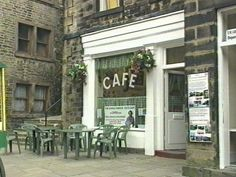 Holmfirth, West Yorkshire - Sid's Cafe' from Last of the Summer Wine. Yorkshire Dales, West Yorkshire, Cool Countries, Countries Of The World, Last Of Summer Wine, Places To Travel, Places To Go, Huddersfield Town, Filming Locations