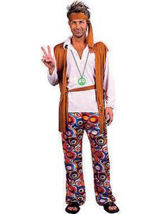 Mens 60's / 70's Hippie Fancy Dress Costume - One Size Fits Most Listing in the Costumes for Men,Fancy Dress,Clothes, Shoes, Accessories Category on eBid United Kingdom