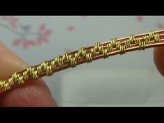 ▶ Wire Wrapping/Weaving Style Using 4 Base Wires Tutorial - YouTube