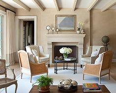 Francine Gardner, fireplace mantel styling