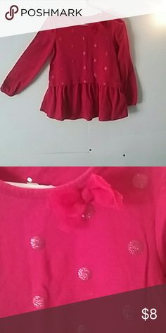 🚨1 More Week!🚨Circo Red Peplum Style Long Sleeve Very cute! Add a splash of color to any outfit! Size: 5T Circo Shirts & Tops Tees - Long Sleeve