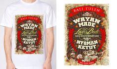 "kaos bali "" Bali Tulen"" Bali T shirt custom (termitenator)  • Bahan kaos menggunakan cotton combed 32's, nyaman dipakai • Hasil cetak di bahan kain tahan dicuci berkali-kali  Catatan: • Menerima pesanan design, tidak ada minimum order dlm produksi, silakan order dulu..  size: S, M, L, XL, XXL"