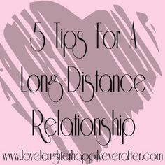 5 Tips for Long Distance Relationships. Eddie and I have all of these covered, but I think these are all very crucial components to any successful relationship. <3