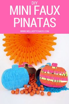 I love a good piñata, but the thought of making them from scratch seemed a bit daunting and time consuming, especially for something that would be torn apart. That's when it hit me- faux piñatas! All the cuteness and fun of a piñata, made in half the time, that can be kept indefinitely. Win-win! Click for the full tutorial.