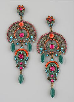 Aldazabal multi-color drop earrings