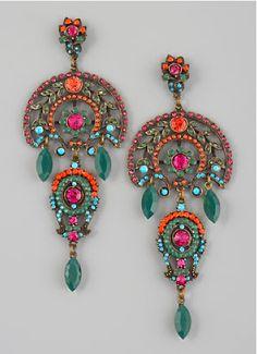 Aldazabal multi-color drop earrings