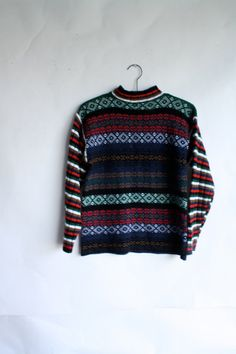 Christmas Sweater  Womens Sweater  70s by WindingRoadVintage