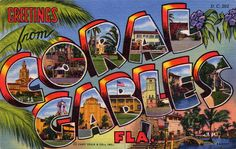 Greetings from Coral Gables, Florida - Large Letter Postcard | Flickr - Photo Sharing!