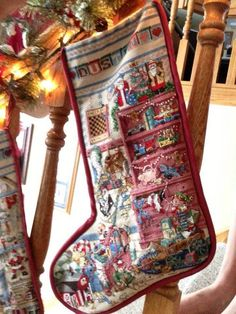 Counted Cross Stitch Little Boys Room Christmas Stocking
