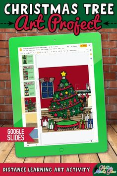 Need easy, NO PREP digital Christmas art projects for kids for both in-person & distance learning? Build a Christmas tree using holiday graphics! Teach Google Slides with basic computer skills. Digital template includes 207 moveable pieces for ornaments, Christmas lights, garland, tinsel, presents, etc.. Use this activity to discuss proportion. Incorporate literacy into your lessons with the included writing prompts! Perfect for 1st grade - 5th grade elementary students. | Glitter Meets Glue