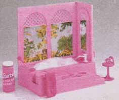 Barbie bath tub. You could put soap in it and pump air into the water to make a bubble bath.