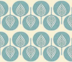 Love this fabric for curtains! Tree_hearts_marine_and_cream_shop_preview