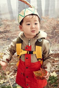Song Minguk for Skarbarn Autumn Forest Collection 2015 Asian Kids, Asian Babies, Cute Kids, Cute Babies, Baby Kids, Triplet Babies, Superman Kids, Man Se, Song Triplets